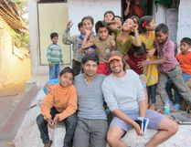 Sarnia's own Sami Khan (seated with baseball cap) and actor Rupak Ginn take a break with some children during the filming of Khan's first feature film, Khoya. cineSarnia will be screening Khoya at the Sarnia Public Library Theatre on Saturday, Nov. 22, with Khan participating in a q & a session following the film. submitted photo for SARNIA THIS WEEK