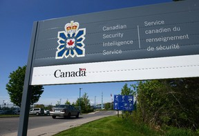 A sign for the Canadian Security Intelligence Service building in Ottawa. (THE CANADIAN PRESS/Sean Kilpatrick)