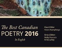 The 2016 edition of The Best Canadian Poetry in English will be launched in Toronto on Nov. 30.