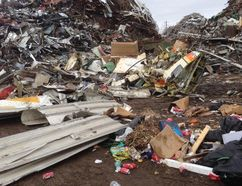 Searchers tracked an emergency distress signal coming from a plane to this London scrapyard. (Cival Air Search and Rescue Association photo)
