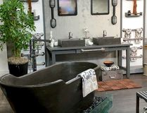 Colin and Justin work their magic by taking an uninspiring bathroom space and turning it into a place that resembles a spa found in an expensive resort.