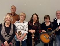 Photo supplied 'Girls Night Out' band members are: Linda Stinson, Mike Kolenko, Debbie Delvecchio, Jacqueline Rivet, Joanne Dubreuil, Ray Dubreuil, (not pictured are Rick Lalonde and Ed Landry). The band will be performing Sat. Dec. 3 at the Seniors Drop-In Centre from 1-3 p.m.