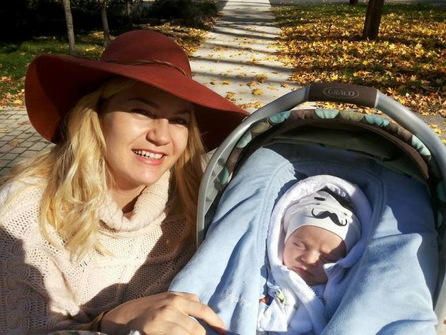 Susana Dumitru poses with her infant son, George, in this photo posted to Facebook on November 7, 2016.