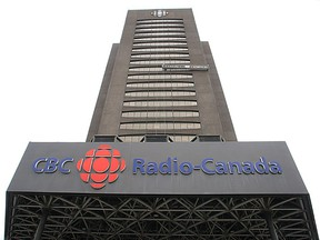 The tower at CBC-Radio-Canada building photographed in Montreal on April 26, 2012. (Marie-France Coallier/Postmedia Network)