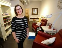 Natalie Boot has moved her Renaissance Massage and Spa to Dundas Street from the second floor of Citi Plaza, saying it was time to hit the street. (MORRIS LAMONT, The London Free Press)