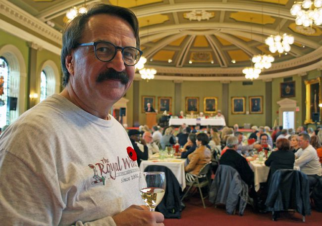 Lubomyr Luciuk is a member of the Royal Winers, who hosted the Judgement of Kingston, a wine-tasting event held at City Hall on Nov. 5.