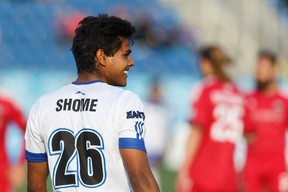 Shamit Shome, shown here playing for FC Edmonton during the past season, quickly  established himself with the team. (Ian Kucerak)