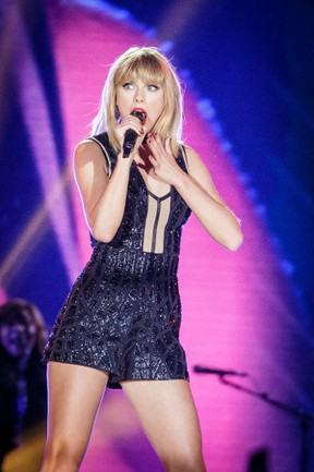This file photo taken on October 21, 2016 shows singer-songwriter Taylor Swift performing her only full concert of 2016 during the Formula 1 United States Grand Prix at Circuit of 6 in Austin, Texas. Swift will be launching her own streaming service. (SUZANNE CORDEIRO/AFP/Getty Images)