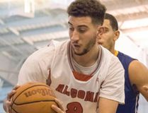 Algoma University Thunderbirds played host to the Ryerson Rams in Canadian Intercollegiate Sport men's basketball action last weekend. Adam Benrabah (8) in up-close court action at the George Leach Centre. Ali Pearson/Sault This Week