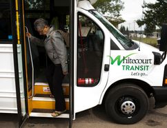 The Transit Committee recommended combining Dial-A-Bus services with regular transit during peak hours in order to accomplish 30 minute pick ups at the Policies and Priorities meeting on Nov. 24. Council moved to support an option that would least slash Dial-A-Bus hours, and deferred the item to budget deliberations. Whitecourt Star file photo