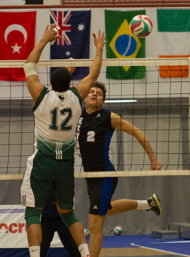 The Keyano Huskies men's volleyball team extended their winning streak over the Concordia Thunder to 18 straight games in Edmonton over the weekend, finishing off a perfect 12-0 first half. Robert Murray/Fort McMurray Today/Postmedia Network
