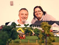 "Rod and Karyn Liddle said they've been coming to Seaforth's Toy and Craft Show for ten years. ""We just love showing off at the show,"" said Rod.(Shaun Gregory/Huron Expositor)"