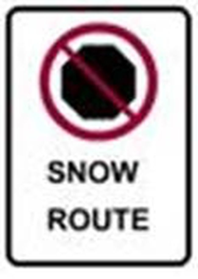 Snow route parking ban