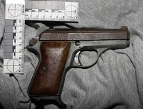 Norfolk OPP released this image in Nov. 2016 of a handgun seized from a Victoria Street home in Simcoe. The gun was loaded when police executed a search warrant at the home. A resident pleaded guilty in court recently to weapons and drug offences. OPP PHOTO
