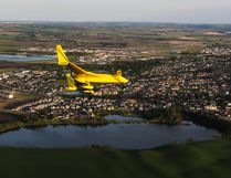 Members of the Lacombe Flying Club will be taking people up on nighttime flights in a fundraising effort for the Lacombe Food Bank.