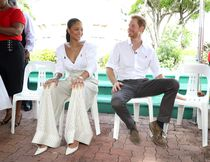 BRIDGETOWN, BARBADOS - DECEMBER 01:  Singer Rihanna and Prince Harry prepare foran live HIV test, in order to promote more widespread testing for the public at the 'Man Aware' event held by the Barbados National HIV/AIDS Commission on the eleventh day of an official visit on December 1, 2016 in Bridgetown, Barbados.  Prince Harry's visit to The Caribbean marks the 35th Anniversary of Independence in Antigua and Barbuda and the 50th Anniversary of Independence in Barbados and Guyana.  (Photo by Chris Jackson – Pool/Getty Images)