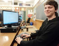 Fifth year high school student Max Vercouteren came back to complete his high skills major in communication studies.