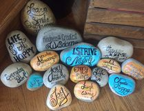 CaroleAnne Sluchinski carefully creates her Kindnessvibes rocks, then finds locations for them where she feels someone who needs a pick-me-up will find it.Photo supplied