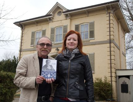 Keith Jamieson and Michelle A. Hamilton have written a book about Mohawk leader Dr. Oronhyatekha, who once lived at this house at 172 Central Ave. in London. (DEREK RUTTAN, The London Free Press)
