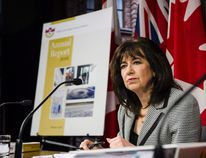 Ontario Auditor general Bonnie Lysyk answers questions about her 2016 annual report at Queen's Park in Toronto on Wednesday, November 30, 2016. THE CANADIAN PRESS/Christopher Katsarov