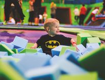 Trampoline enthusiasts of all sizes have a soft landing in the Jump Park foam pit in the new Sherwood Park facility. Photo Courtesy Box Clever