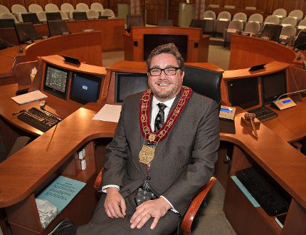 Brantford Mayor Chris Friel, shown in a 2015 file photo, has been dealing with health issues over the past couple of months. (Expositor file photo)