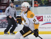 Filip Helt got off to a great start with the Sarnia Sting this fall, scoring goals in each of his first two Ontario Hockey League games. But the 18-year-old Czech import hasn't scored since. (Metcalfe Photography)