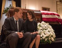 Peter Sarsgaard as Bobby Kennedy and Natalie Portman as Jackie Kennedy in Jackie.