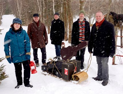 The Barra MacNeils, from left Lucy, Kyle, Stewart, Boyd and Sheumas, perform at the Brockville Arts Centre on Sunday. (SUBMITTED PHOTO)