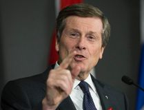 Mayor John Tory at Executive press conference after committee meeting on road tolls and TTC Thursday December 1, 2016. (Craig Robertson/Postmedia Network)