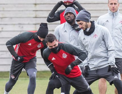 TFC practice at the KIA Training Grounds in Toronto on Dec. 7, 2016. (Craig Robertson/Toronto Sun/Postmedia Network)