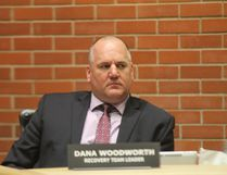 Recovery team leader Dana Woodworth listens during a Recovery Committee meeting in council chambers in Fort McMurray, Alta on Wednesday, Dec. 7, 2016. Cullen Bird/Fort McMurray Today/Postmedia Network.