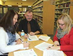 <p>Joy Martel, Rob Lauzon and Kelly McDermid at the CDSBEO's ARC meeting on Wednesday, December 7, 2016 in Cornwall, Ont. </p><p> Lois Ann Baker/Cornwall Standard-Freeholder/Postmedia Network