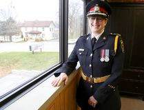 Emily Mountney-Lessard/The Intelligencer Belleville Police Chief Cory MacKay is shown here in her office. MacKay is in the final weeks of her tenure as the city's police chief and will retire from policing after more than three decades.