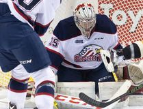 Evan Cormier stopped 27 shots for his second shutout of the season as the Saginaw Spirit blanked the Sarnia Sting 3-0 Thursday night in Saginaw. The Sting return home to host the London Knights Saturday night in their ugly Christmas sweater game. Sarnia Observer/Postmedia Network