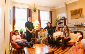 London singer-songwriter Taylor Holden, seated at centre, and her band The Law of Averages will be playing the Kiwanis bandshell in Victoria Park on Dec. 31.