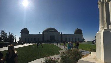 Visitors to the observatory in Los Angeles' Griffith Park can look through telescopes, explore exhibits, see live shows and enjoy spectacular views of the city and the Hollywood Sign. MARK DANIELL/TORONTO SUN