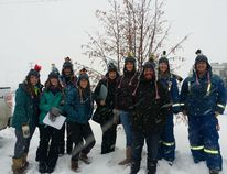 Sporting their best birding attire, this team had fun on the Stony Plain bird count despite the chilly weather last year. This year's count is on Dec. 17. Photo supplied