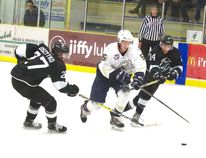 The Spruce Grove Saints will face a ferocious Whitecourt Wolverines squad on Dec. 10 at home and try to narrow the gap for first place in the AJHL North. The Junior As will be without top defenceman Ian Mitchell, who was chosen to represent Team Canada West in the World Junior A Challenge. - File Photo