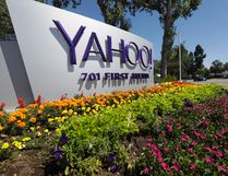This Tuesday, July 19, 2016 photo shows a Yahoo sign at the company's headquarters in Sunnyvale, Calif. On Wednesday, Dec. 14, 2016, Yahoo said it believes hackers stole data from more than one billion user accounts in August 2013. (AP Photo/Marcio Jose Sanchez)