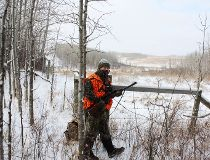 Neil on stand in whitetail deer country