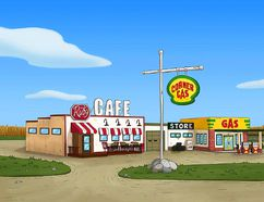 """A still of the """"Corner Gas"""" animated series is seen in this undated handout photo. THE CANADIAN PRESS/HO-The Comedy Network"""