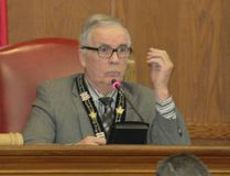 Lois Ann Baker/Cornwall Standard-Freeholder New warden Jim Bancroft chairs his first council meeting on Monday.