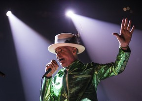 The Tragically Hip front man Gord Downie performing at the Canadian Tire Centre in Ottawa on Thursday August 18, 2016. (Errol McGihon/Postmedia Network)