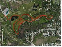 About two kilometres of free public cross country ski trails have once again opened at the Minnewasta Golf and Country Club. (Submitted image)