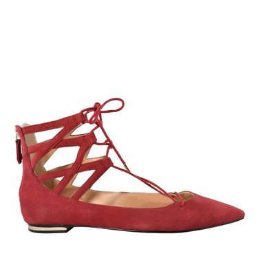 No heel but high on elegance with the colourful Anastasia lace up flats by Kate & Mel; $69.98, Town Shoes.