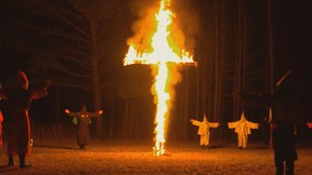 """""""Escaping the KKK: A Documentary Series Exposing Hate in America."""" (Trailer screenshot)"""