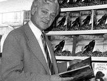In this Oct. 18, 1978 file photo author Richard Adams poses for a photograph. (PA Photo via AP)