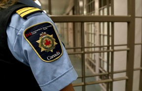 A correctional officer watches over the maximum security unit during a tour of the Collins Bay Institution on Tuesday May 10 2016. Ian MacAlpine /The Whig-Standard/Postmedia Network