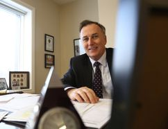 MP Neil Ellis, pictured here in his Belleville office, will be making three funding announcements in January.